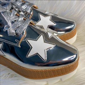 Silver Star Platform Sneakers